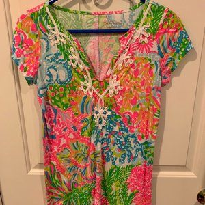 Lilly Pulitzer Brewster Dress Lovers Coral Size S